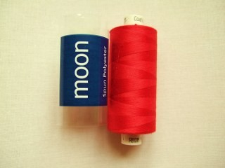 COATS MOON THREAD 120gauge  Spun Polyester  1000 yds     Bright Red