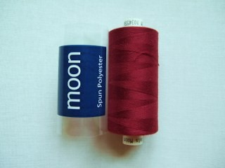 COATS MOON THREAD 120gauge  Spun Polyester  1000 yds     Burgundy Red