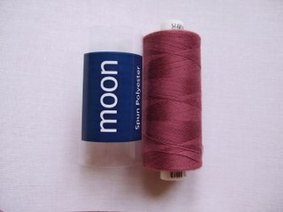 COATS MOON THREAD 120gauge  Spun Polyester  1000 yds     Dark Raspberry