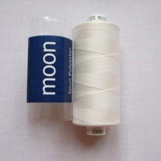 COATS MOON THREAD 120gauge  Spun Polyester  1000 yds     CREAM