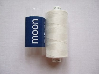 COATS MOON THREAD 120gauge  Spun Polyester  1000 yds     CREAM