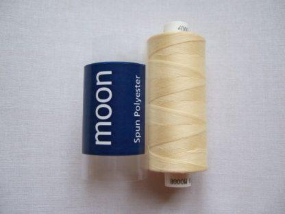 COATS MOON THREAD 120gauge  Spun Polyester  1000 yds    PALE YELLOW