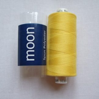 COATS MOON THREAD 120gauge  Spun Polyester  1000 yds     YELLOW