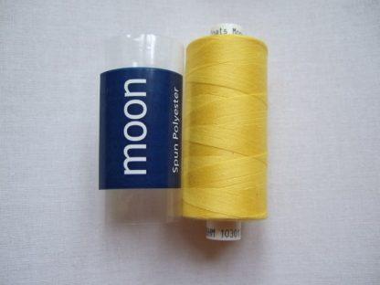 COATS MOON THREAD 120gauge  Spun Polyester  1000 yds     YELLOW