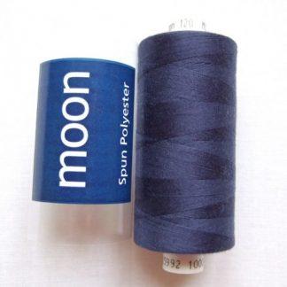 COATS MOON THREAD 120gauge  Spun Polyester  1000 yds     NAVY BLUE