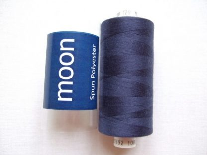 COATS MOON THREAD 120gauge  Spun Polyester  1000 yds     NAVY BLUE