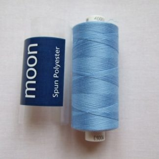 COATS MOON THREAD 120gauge  Spun Polyester  1000 yds     SKY BLUE
