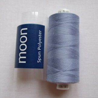 COATS MOON THREAD 120gauge  Spun Polyester  1000 yds     BLUE/GRAY