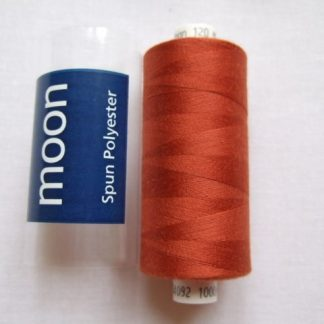 COATS MOON THREAD 120gauge  Spun Polyester  1000 yds     DARK TERRACOTA