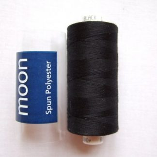 COATS MOON THREAD 120gauge  Spun Polyester  1000 yds     BLACK