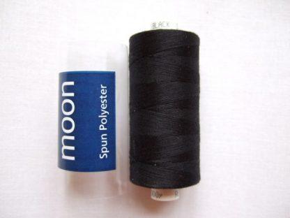 COATS MOON THREAD 120gauge  Spun Polyester  1000 yds     BLACK