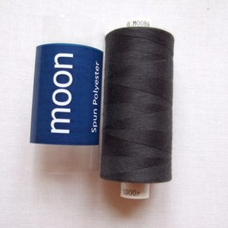 COATS MOON THREAD 120gauge  Spun Polyester  1000 yds     CHARCOAL