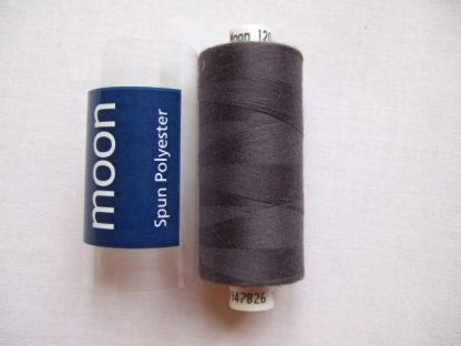 COATS MOON THREAD 120gauge  Spun Polyester  1000 yds     DARK  GREY
