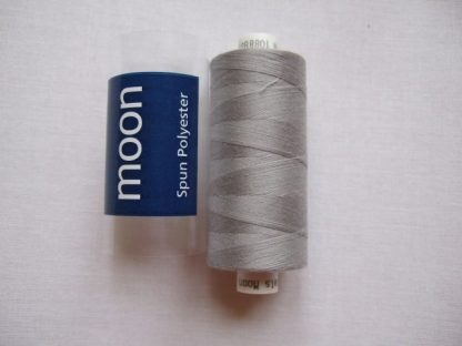 COATS MOON THREAD 120gauge  Spun Polyester  1000 yds     LIGHT GREY