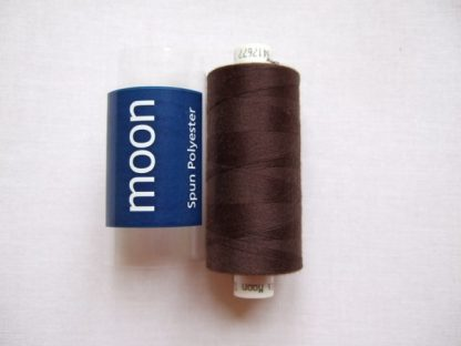 COATS MOON THREAD 120gauge  Spun Polyester  1000 yds     DARK BROWN
