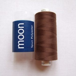 COATS MOON THREAD 120gauge  Spun Polyester  1000 yds     MID BROWN