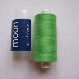 COATS MOON THREAD 120gauge  Spun Polyester  1000 yds     LIME GREEN