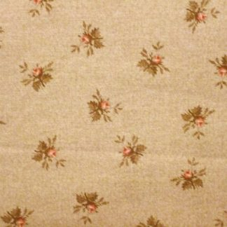 OLIVIA by Michele D'amore for Benartex cotton fabric PINK on BEIGE