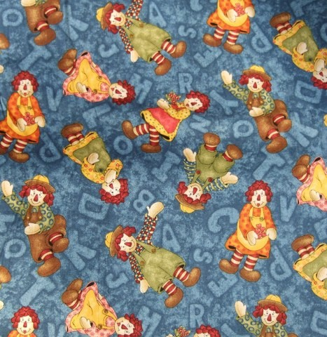 ABC PALS by On Pins& Needles for Fabri-Quilt  cotton fabric blue/multi