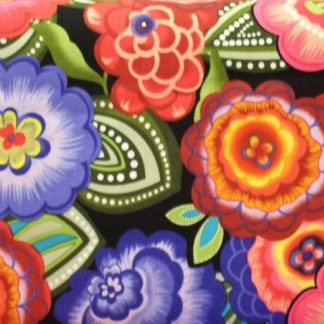 FIESTA by Maria Kalinowski canvas for Benartex cotton fabric multy colour