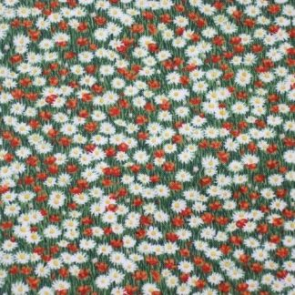 FARM MEADOW FLOWERS  by The Henley Studio for Makower cotton fabric