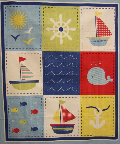 SHIPS AHOY PANEL by SPRINGS CREATIVE PRODUCTS.