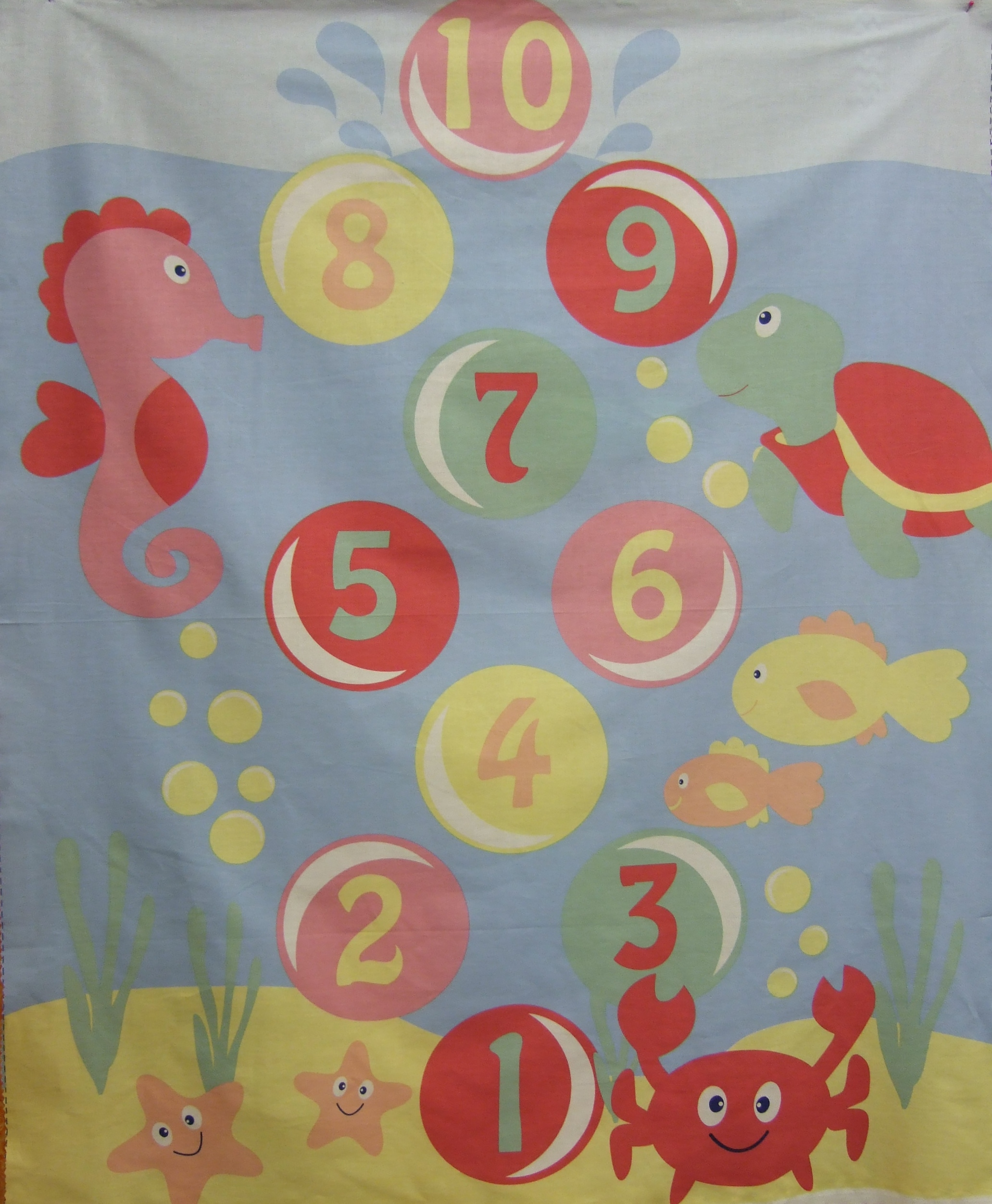 Under the sea quilt panel by fabric freedom shan 39 s fabrics for Children of the sea fabric