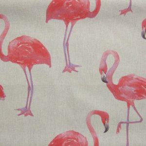 AMERIA FLAMINGO.  poly/cotton fabric