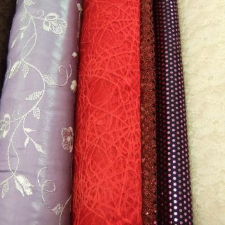LACE AND SPARKLES FABRICS