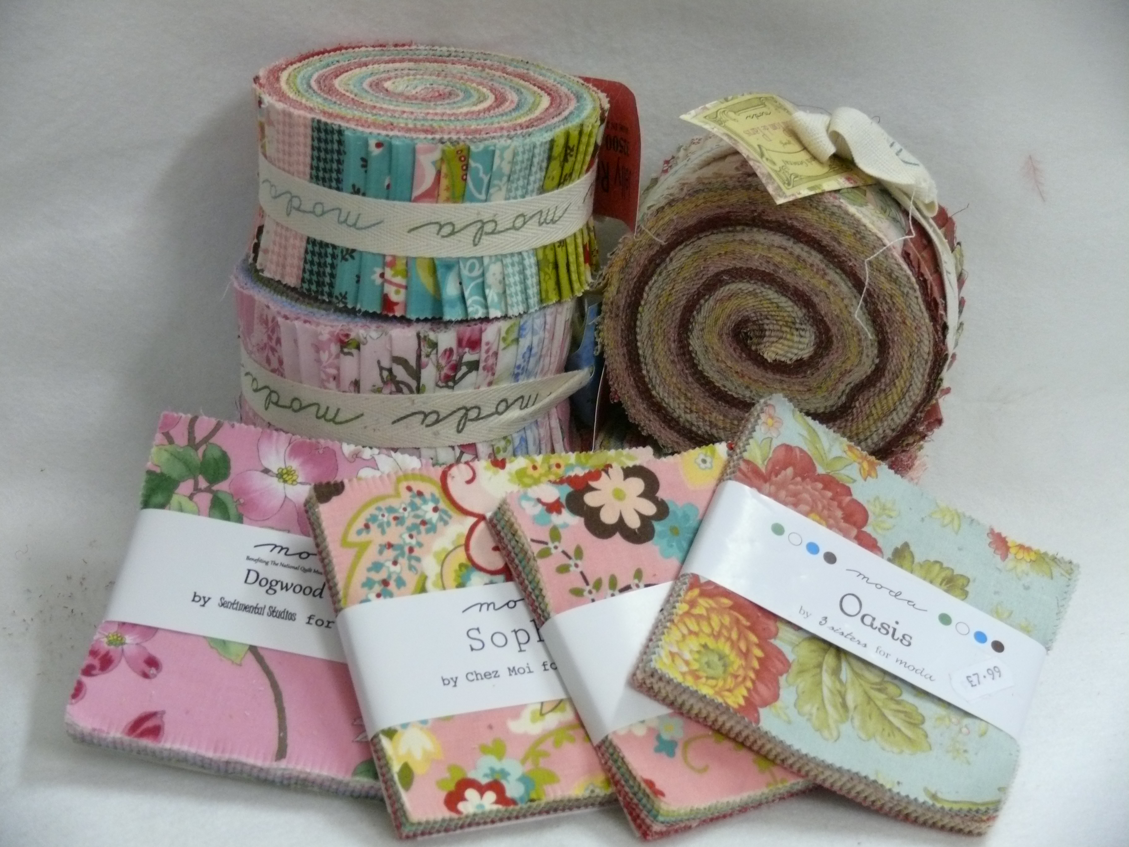 PRE-CUTS. JELLY ROLLS/CHARM PACKS/LAYER CAKES